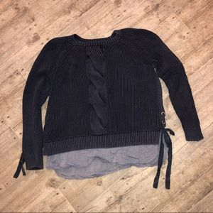 Tommy Hilfiger 2x Navy sweater faux blouse under
